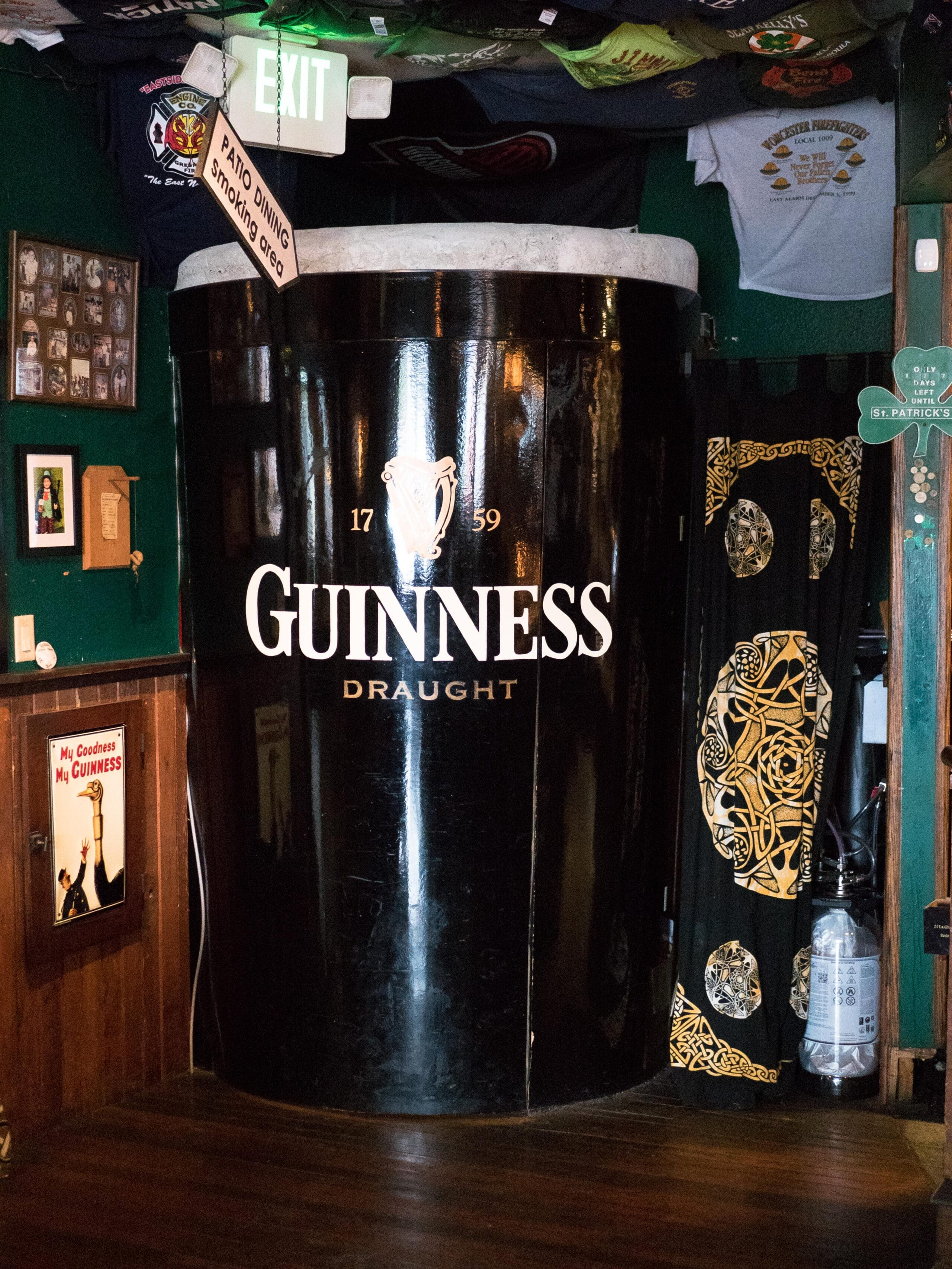 The door to the beer garden at the Galway Irish Pub in Ocean Shores, WA.